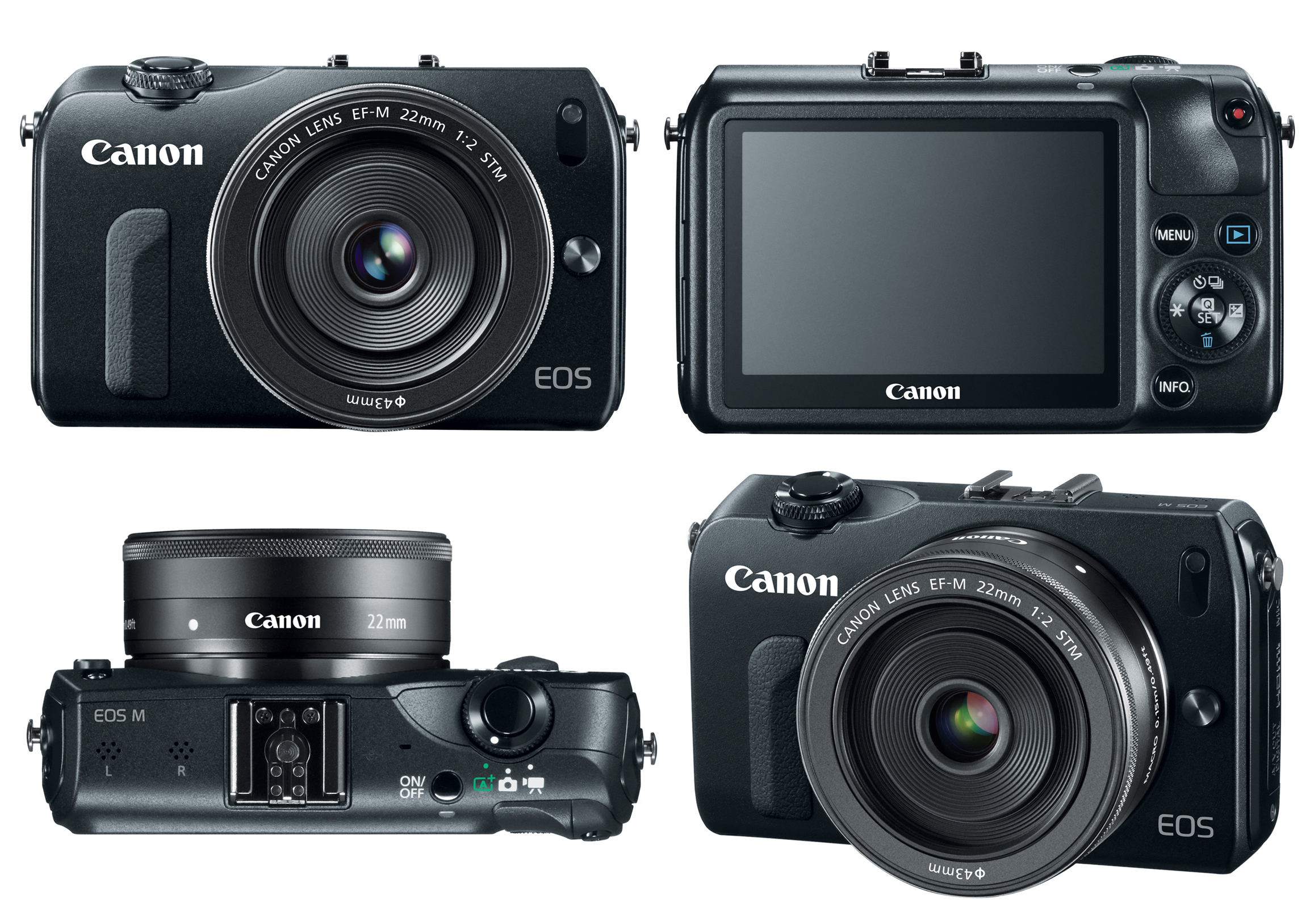 New Canon EOS M Digital Camera with interchangeable EF and M lenses